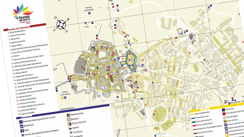 Mapa para Visitar as Festas do Povo 2015